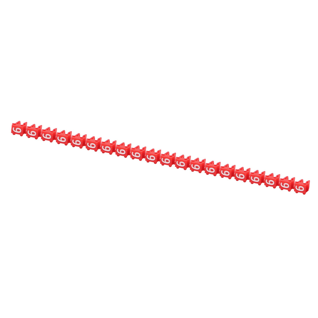 20Pcs Letters 6 Network Cable Labels Markers Red for 1.0-3.0mm Dia Cable
