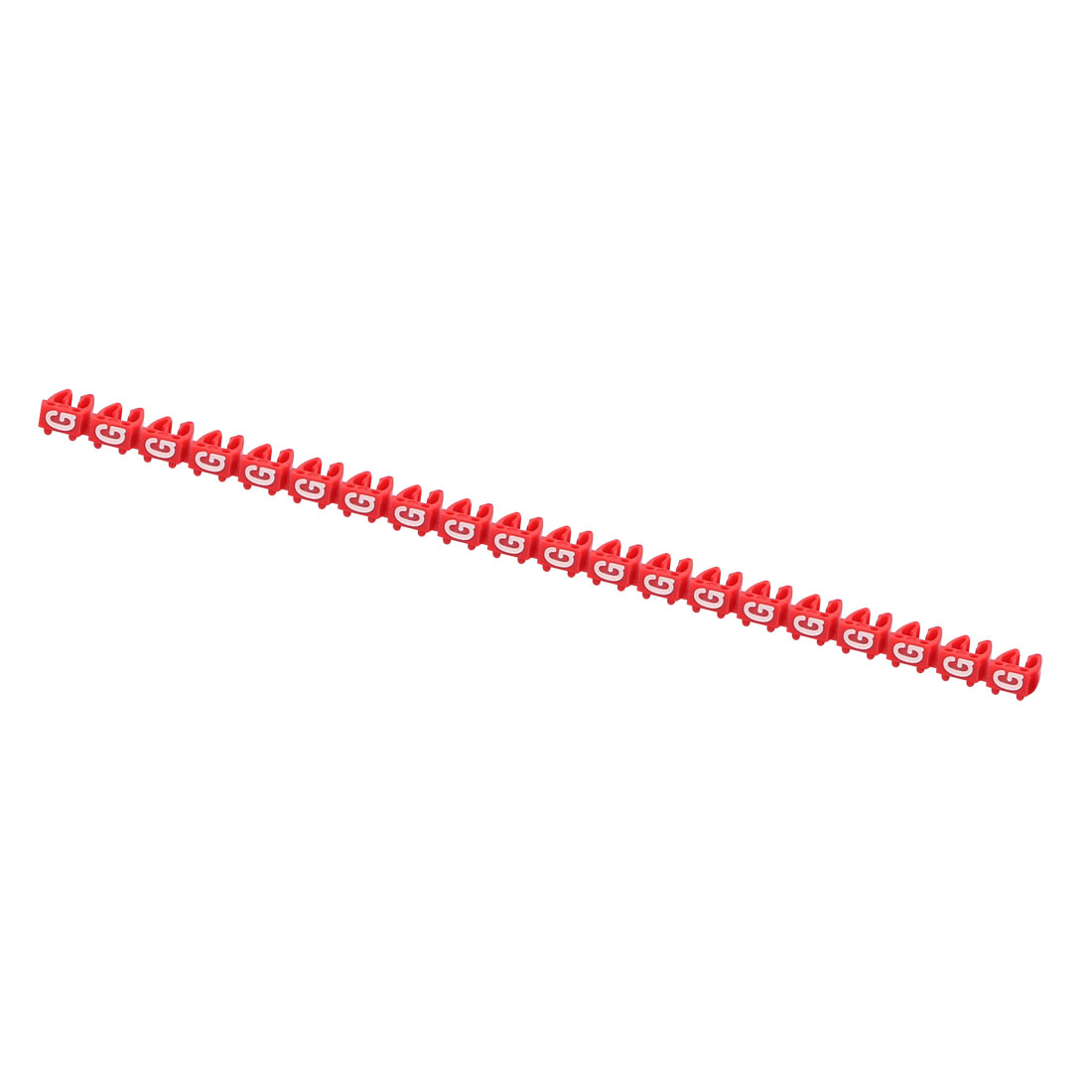 20Pcs Letters G Network Cable Labels Markers Red for 4.0-6.0mm Dia Cable