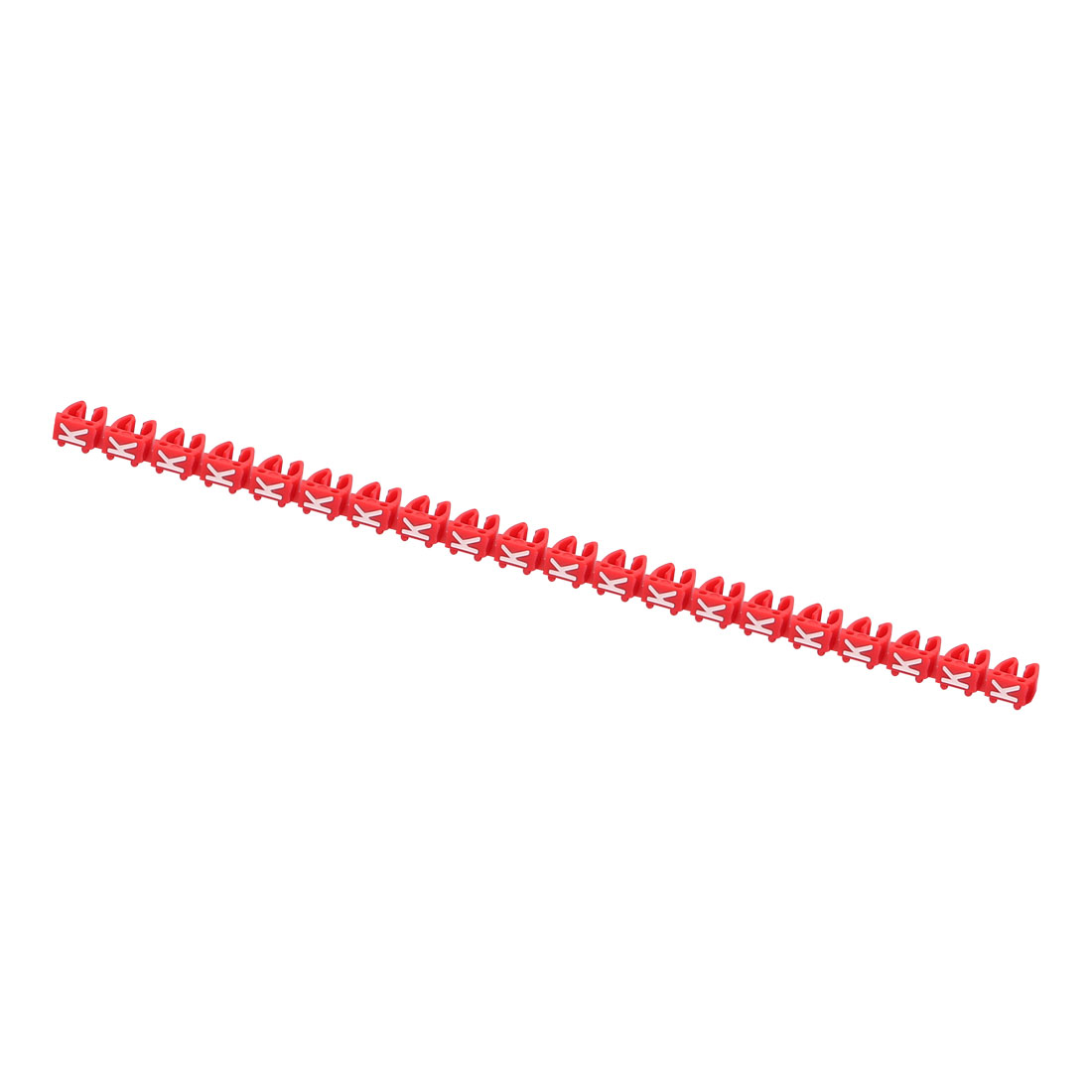 20Pcs Letters K Network Cable Labels Markers Red for 4.0-6.0mm Dia Cable