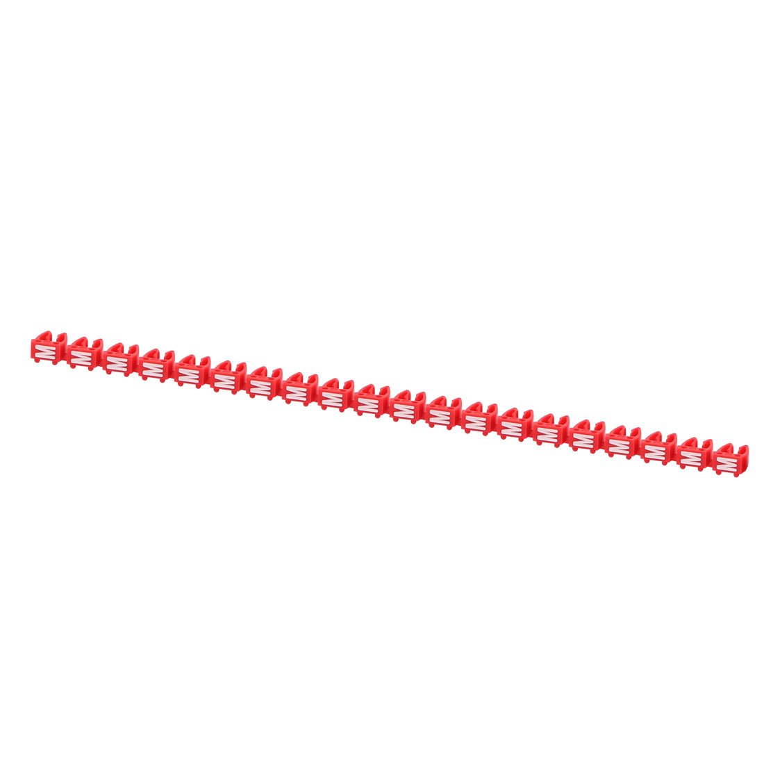 20Pcs Letters M Network Cable Labels Markers Red for 4.0-6.0mm Dia Cable