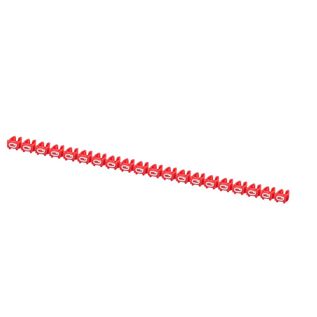 20 Pcs Letters Q Network Cable Labels Markers Red for 4.0-6.0mm Dia Cable