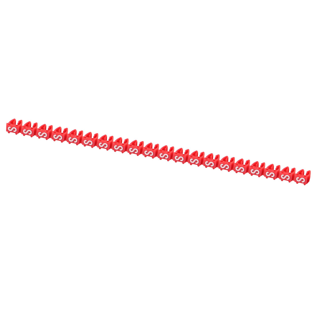 20 Pcs Letters S Network Cable Labels Markers Red for 4.0-6.0mm Dia Cable