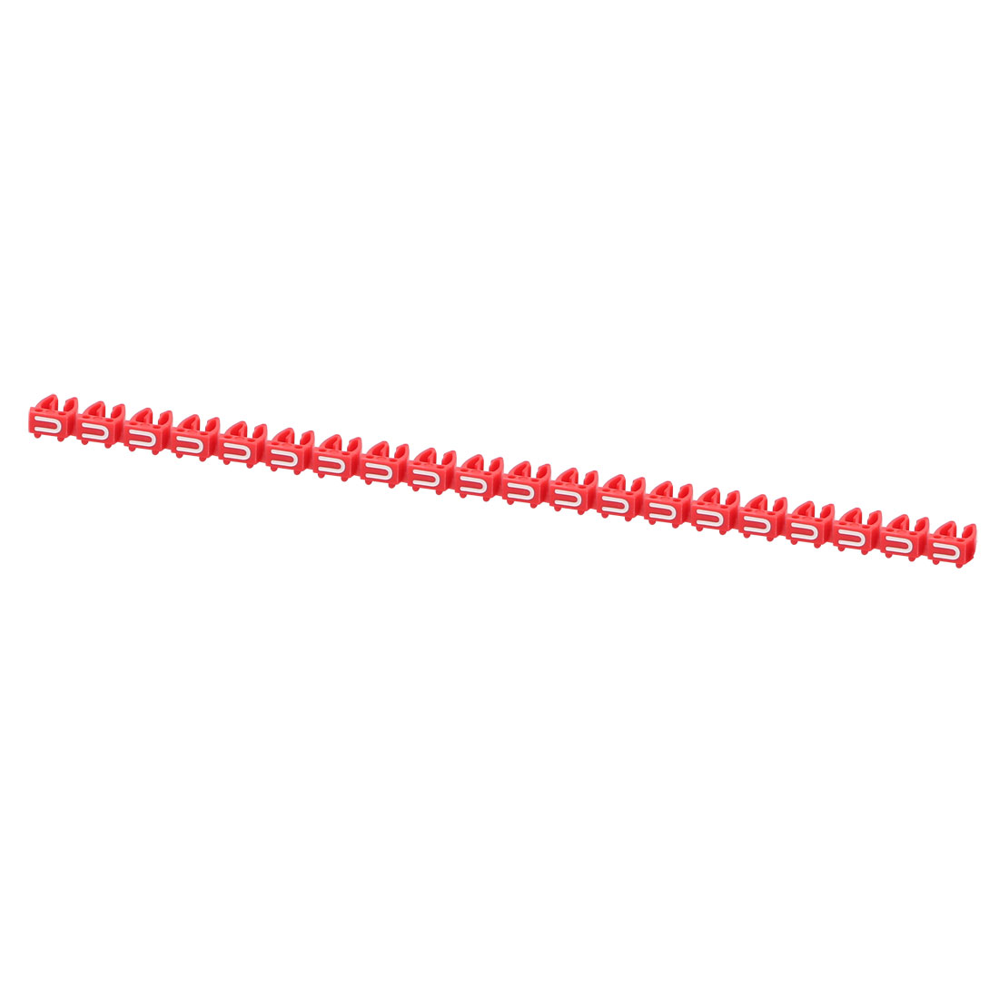 20 Pcs Letters U Network Cable Labels Markers Red for 4.0-6.0mm Dia Cable