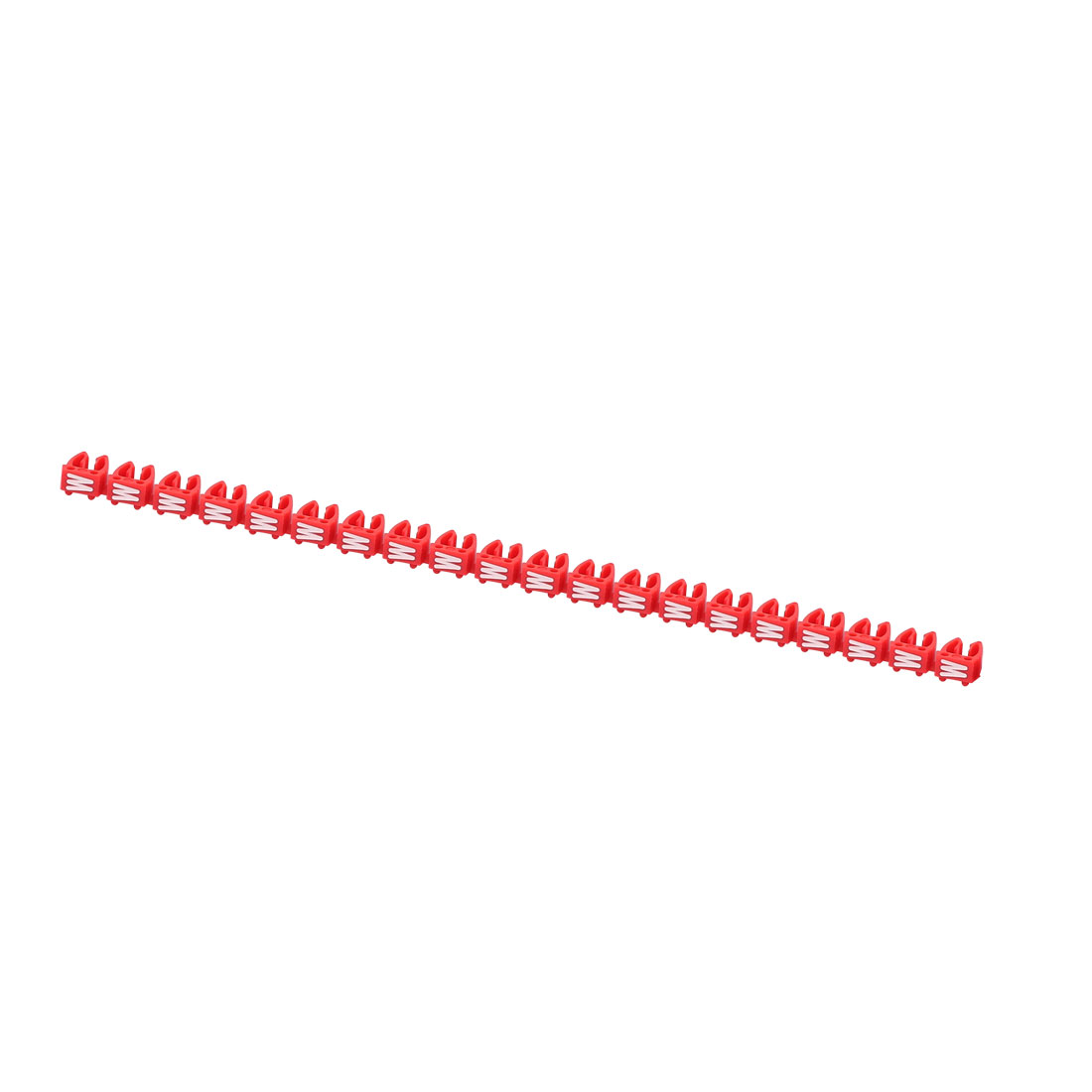 20 Pcs Letters W Network Cable Labels Markers Red for 4.0-6.0mm Dia Cable