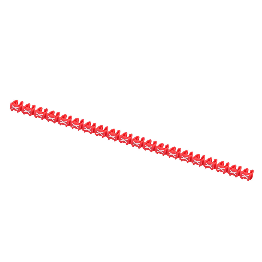20 Pcs Letters X Network Cable Labels Markers Red for 4.0-6.0mm Dia Cable