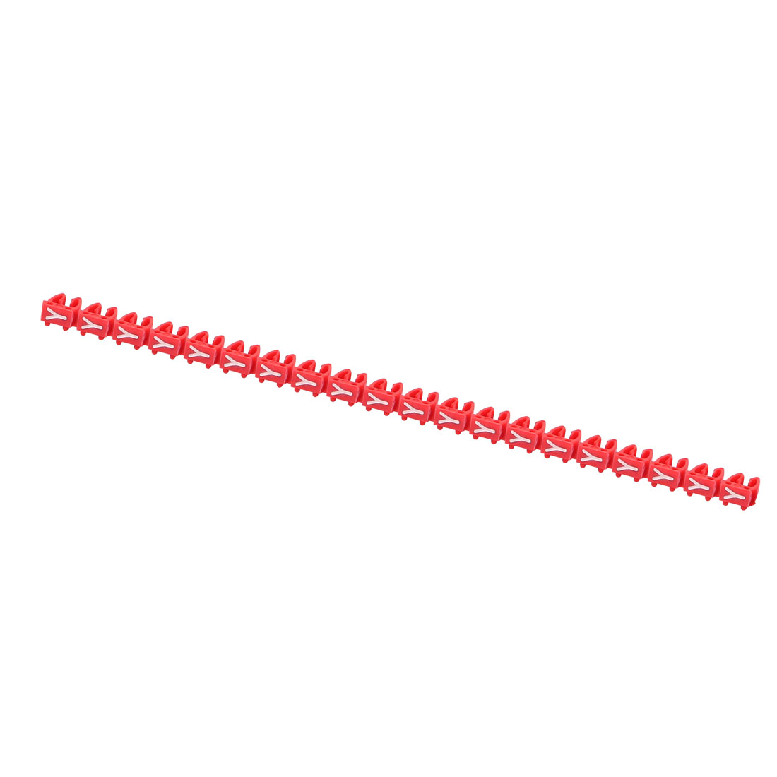 20 Pcs Letters Y Network Cable Labels Markers Red for 4.0-6.0mm Dia Cable