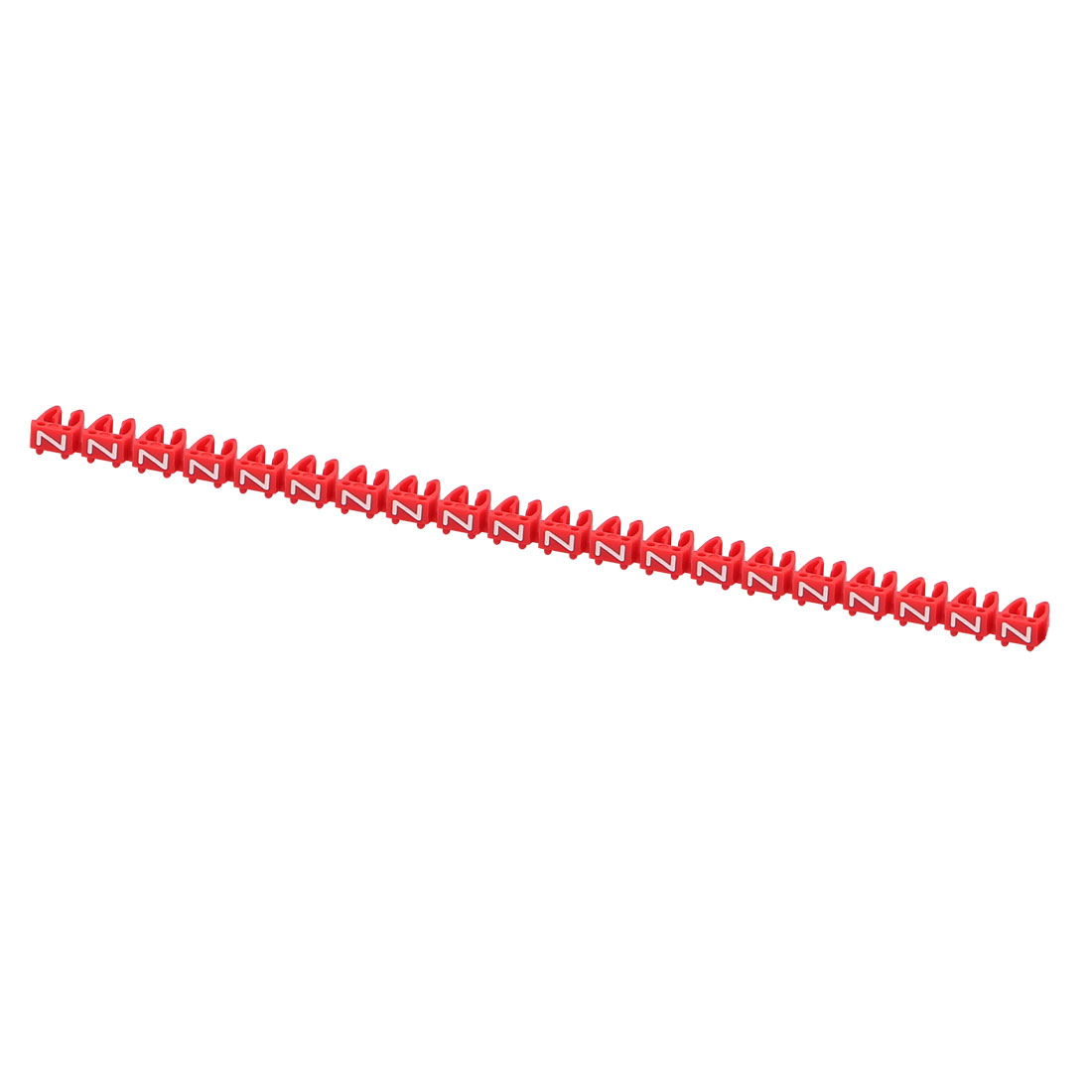 20 Pcs Letters Z Network Cable Labels Markers Red for 4.0-6.0mm Dia Cable