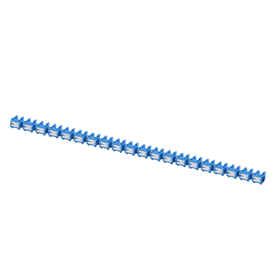 "20Pcs Letters ""M"" Network Cable Labels Markers Blue for 1.0-3.0mm Dia Wire"