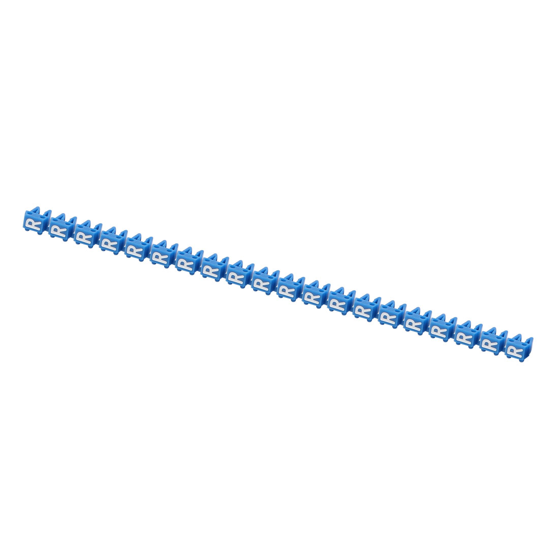 "20Pcs Letters ""R"" Network Cable Labels Markers Blue for 1.0-3.0mm Dia Wire"