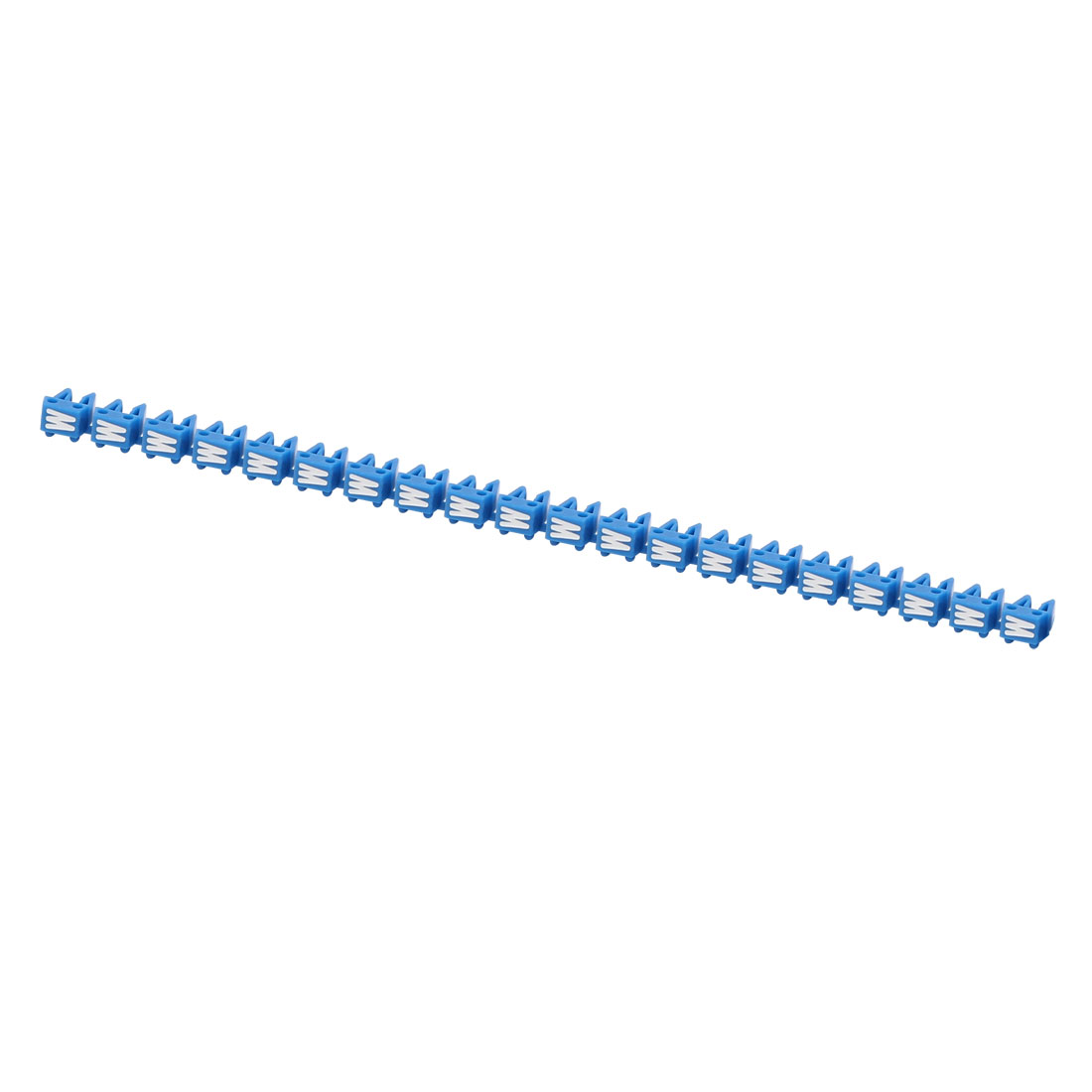 """20Pcs Letters """"W"""" Network Cable Labels Markers Blue for 1.0-3.0mm Dia Wire"""