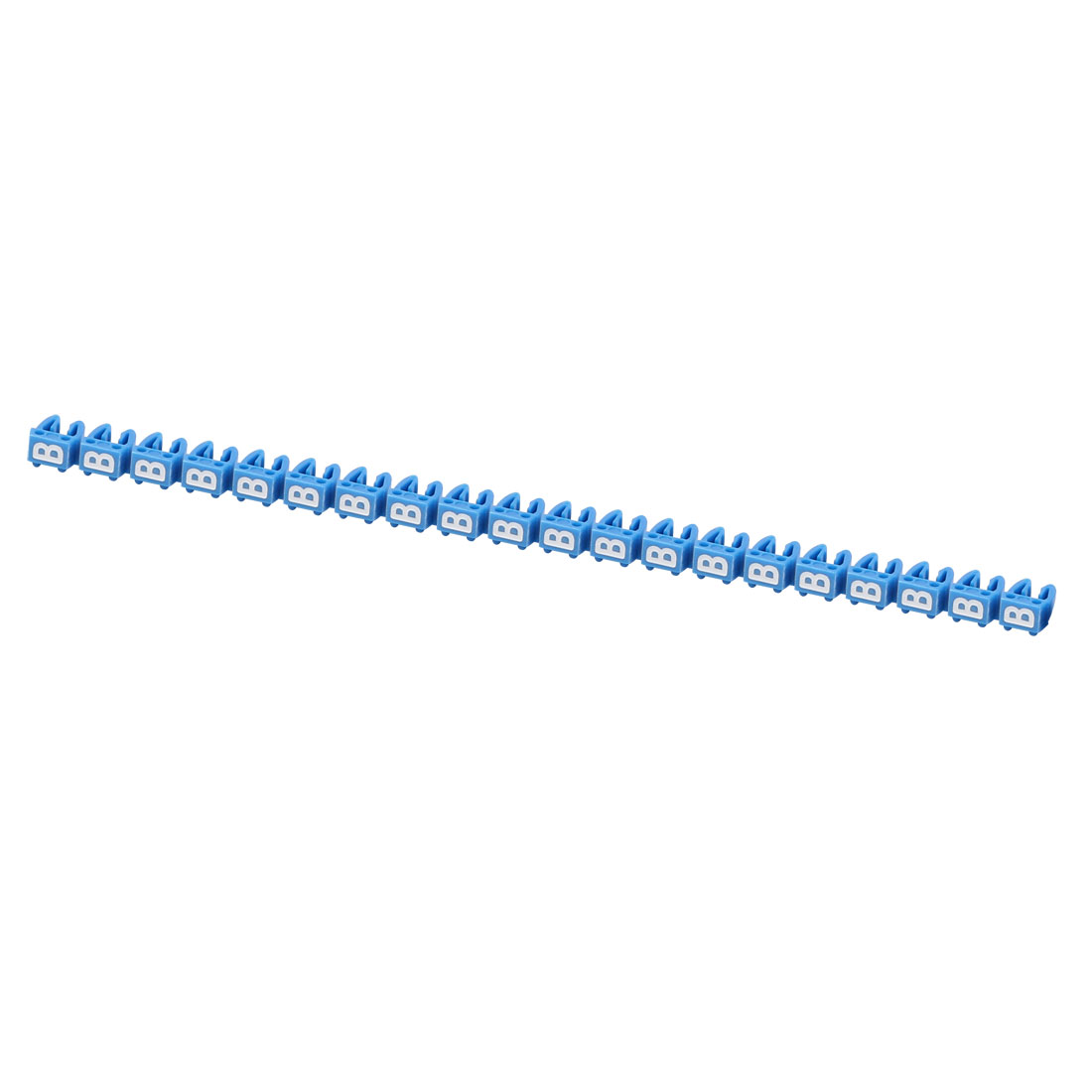 """20Pcs Letters """"B"""" Network Cable Labels Markers Blue for 3.0-4.0mm Dia Wire"""