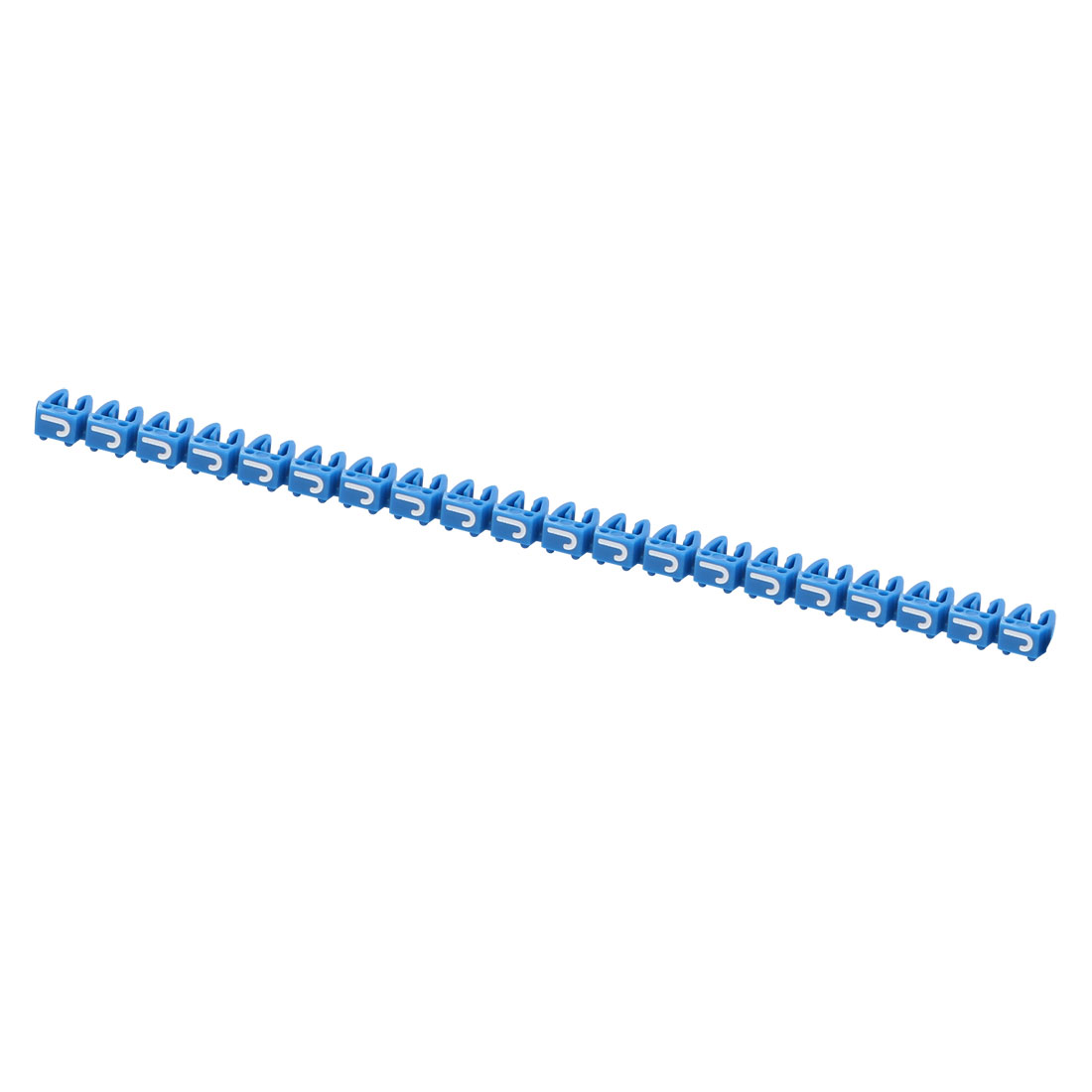 """20Pcs Letters """"J"""" Network Cable Labels Markers Blue for 3.0-4.0mm Dia Wire"""