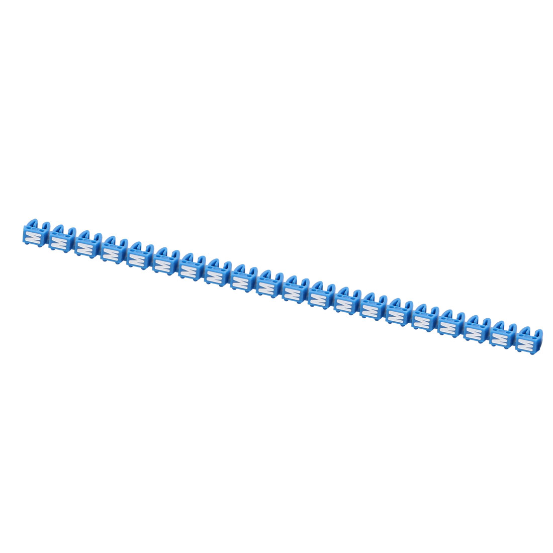 """20Pcs Letters """"M"""" Network Cable Labels Markers Blue for 3.0-4.0mm Dia Wire"""