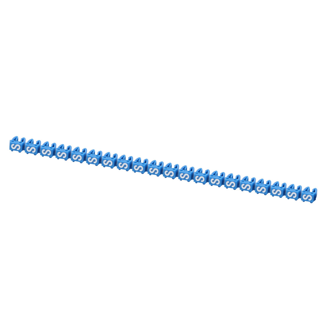 "20Pcs Letters ""S"" Network Cable Labels Markers Blue for 3.0-4.0mm Dia Wire"