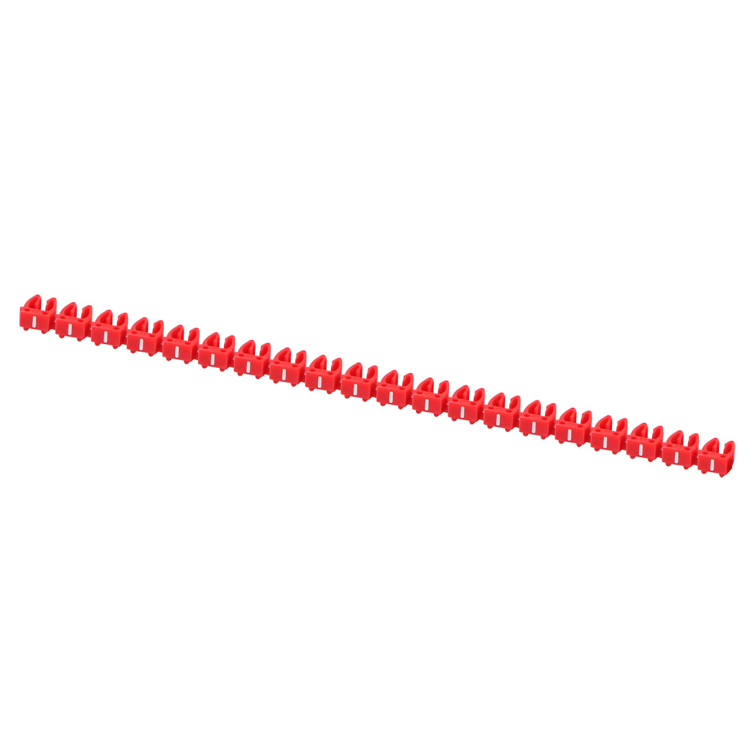 20 Pcs Letters - Network Cable Labels Markers Red for 4.0-6.0mm Dia Wire