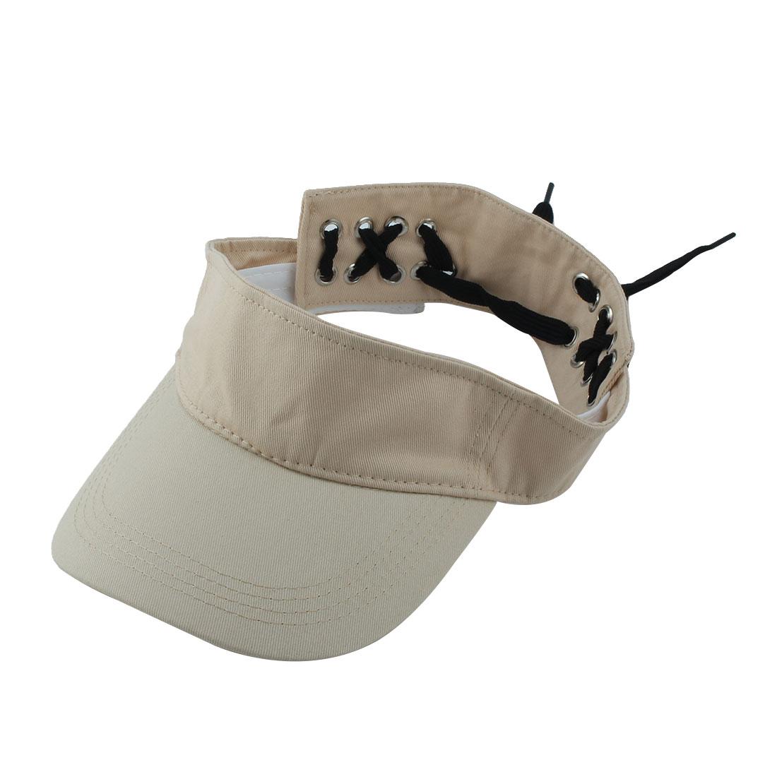 Women Outdoor Summer Sports Baseball Tennis Casual Sun Hat Visor Cap Khaki