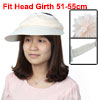 Women Summer Floral Decor Foldable Wide Brim Beach Travelling Sun Hat Visor Cap Beige