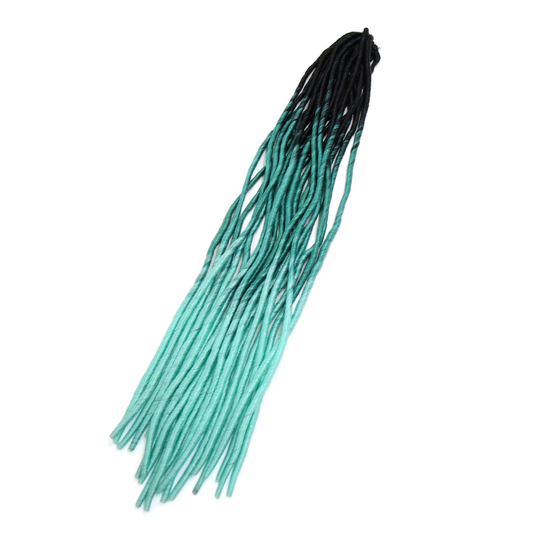 1 Pack 21.7 Inches Long Synthetic African Hair Weft Twist Braids Wig Black Blue