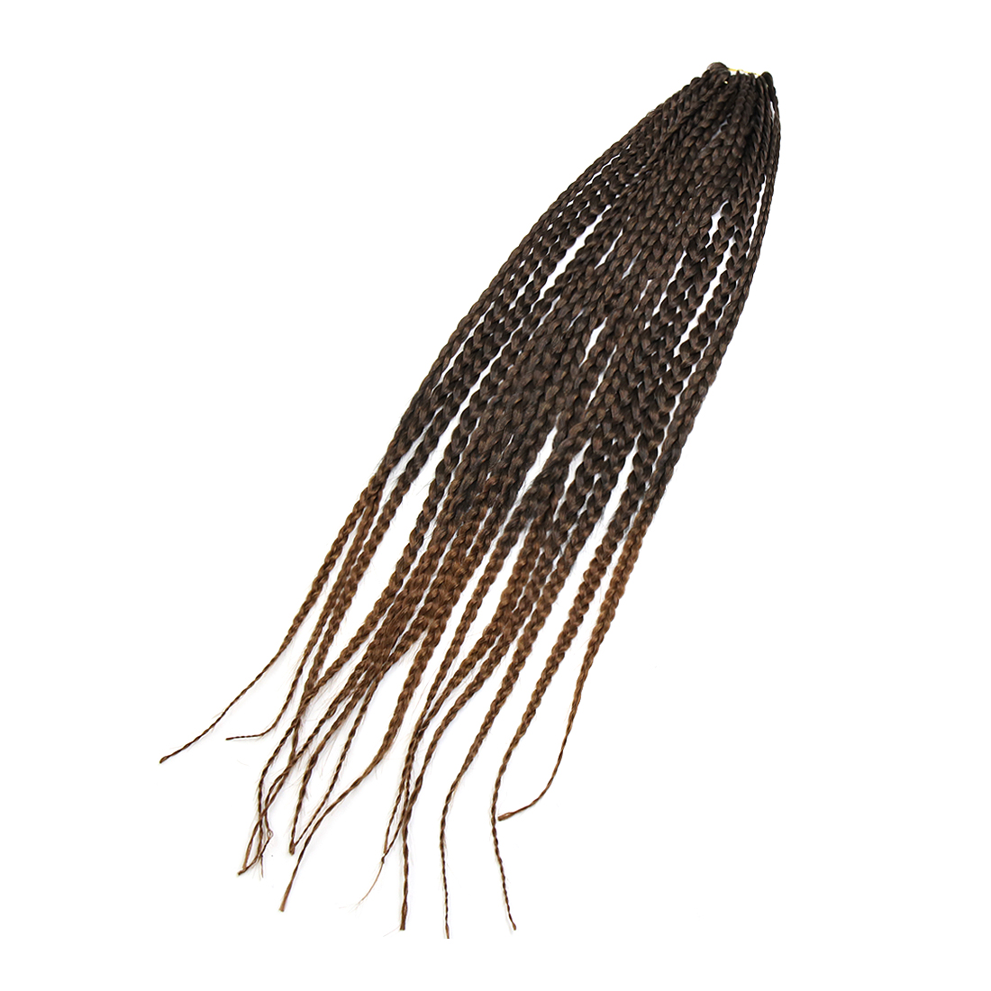 1 Pack 26 Inches Long Synthetic Wig Senegal Style Box Braid Hair Weft Dark Brown