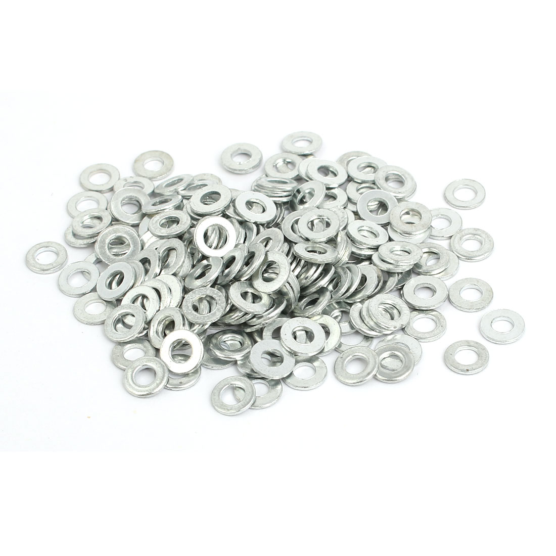 M3 Carbon Steel Zinc Plated Flat Pads Washer Gasket Spacer Silver Tone 200pcs