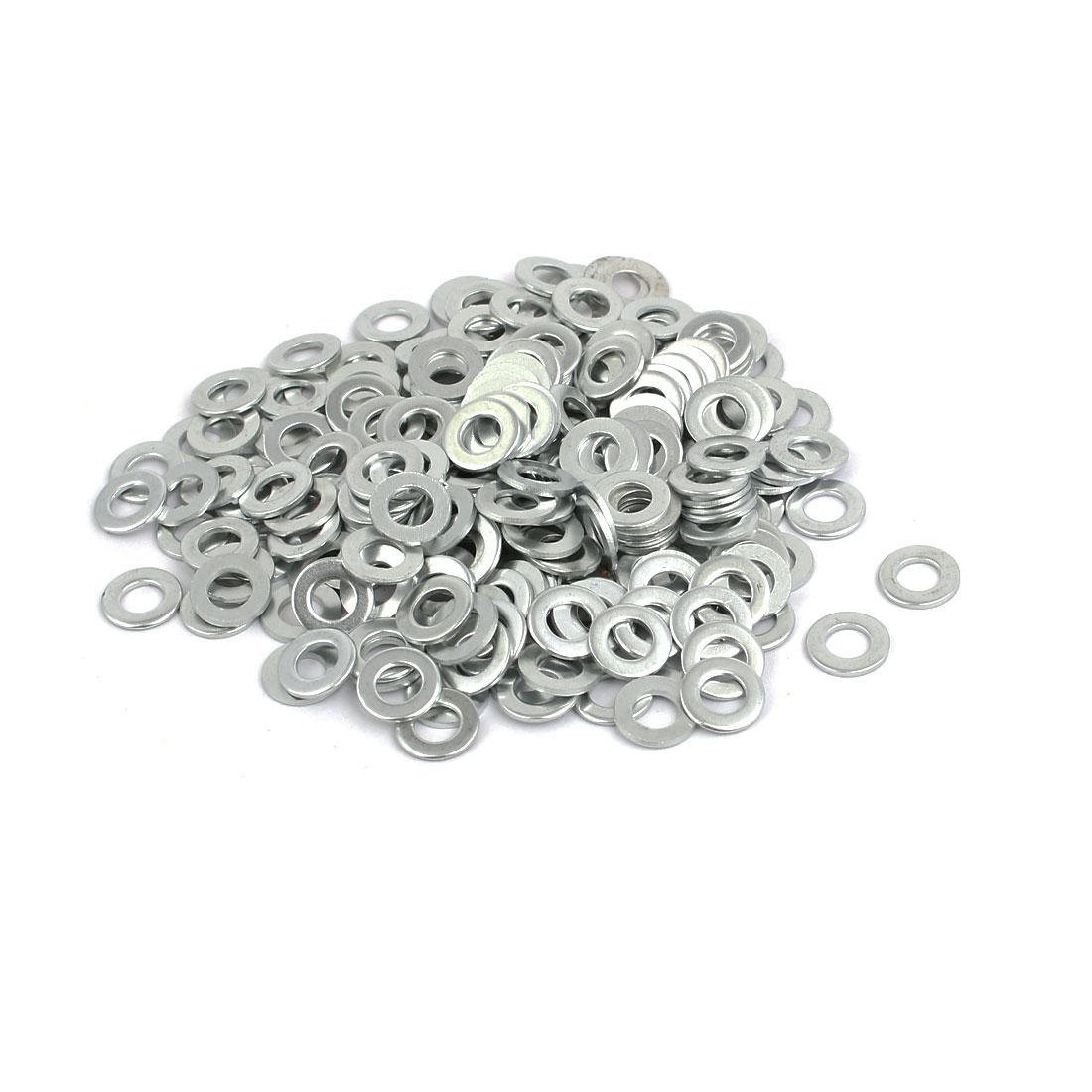 M5 Carbon Steel Zinc Plated Flat Pads Washer Gasket Spacer Silver Tone 300pcs