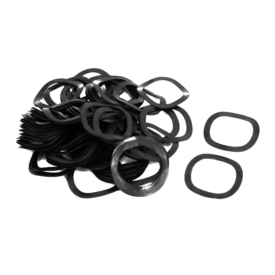 19mm Inner Dia 25mm Outer Dia 0.4mm Thickness Compression Type Wave Washer 80pcs