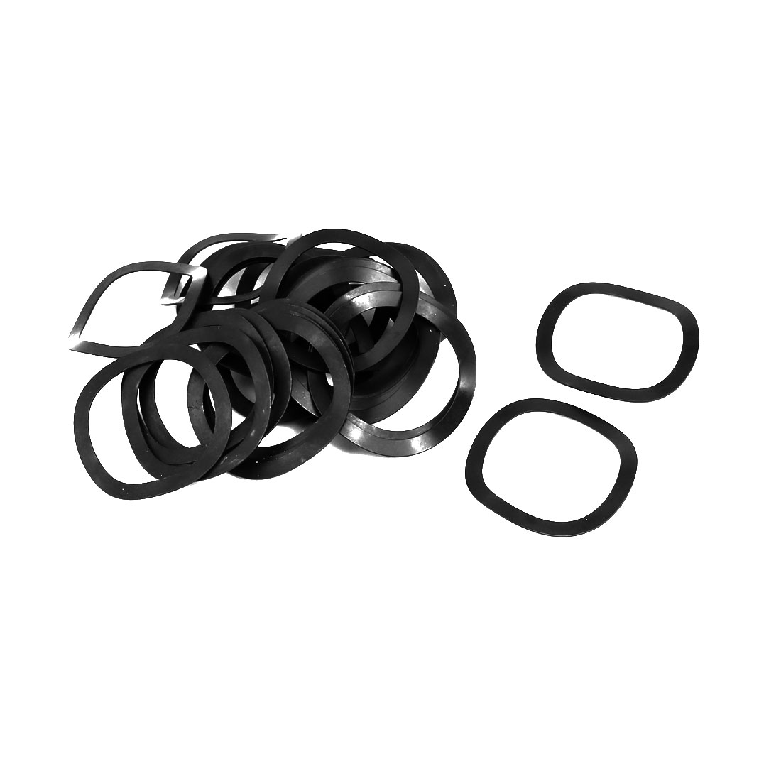 25mm Inner Dia 31mm Outer Dia 0.4mm Thickness Compression Type Wave Washer 40pcs