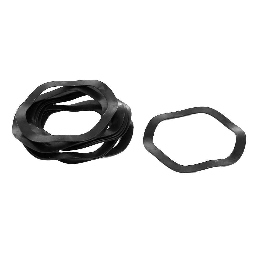 40mm Inner Dia 50mm Outer Dia 0.5mm Thickness Compression Type Wave Washer 10pcs