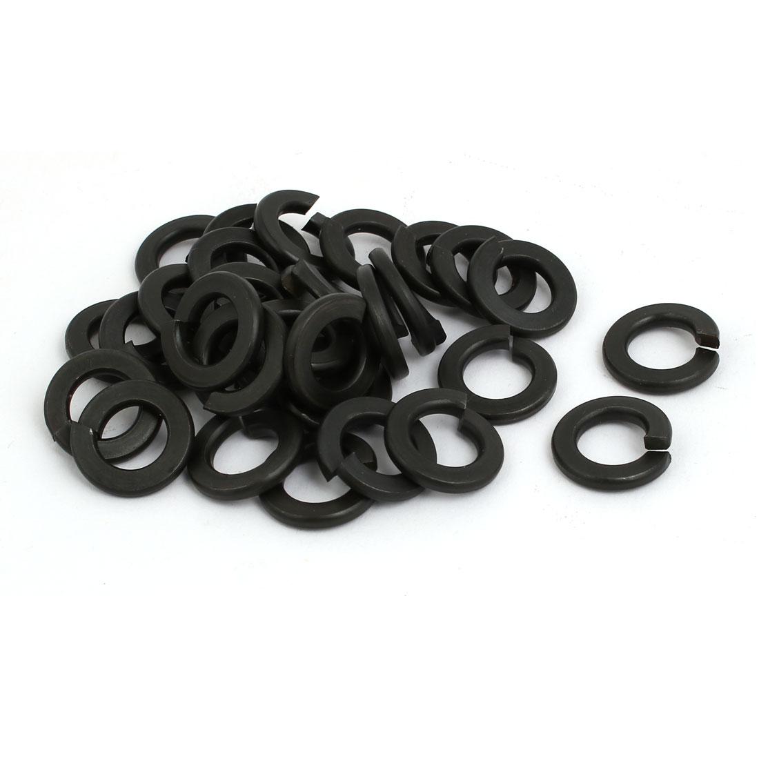 30pcs 3/8-inch Inner Dia Carbon Steel Split Lock Spring Washer Gasket Black