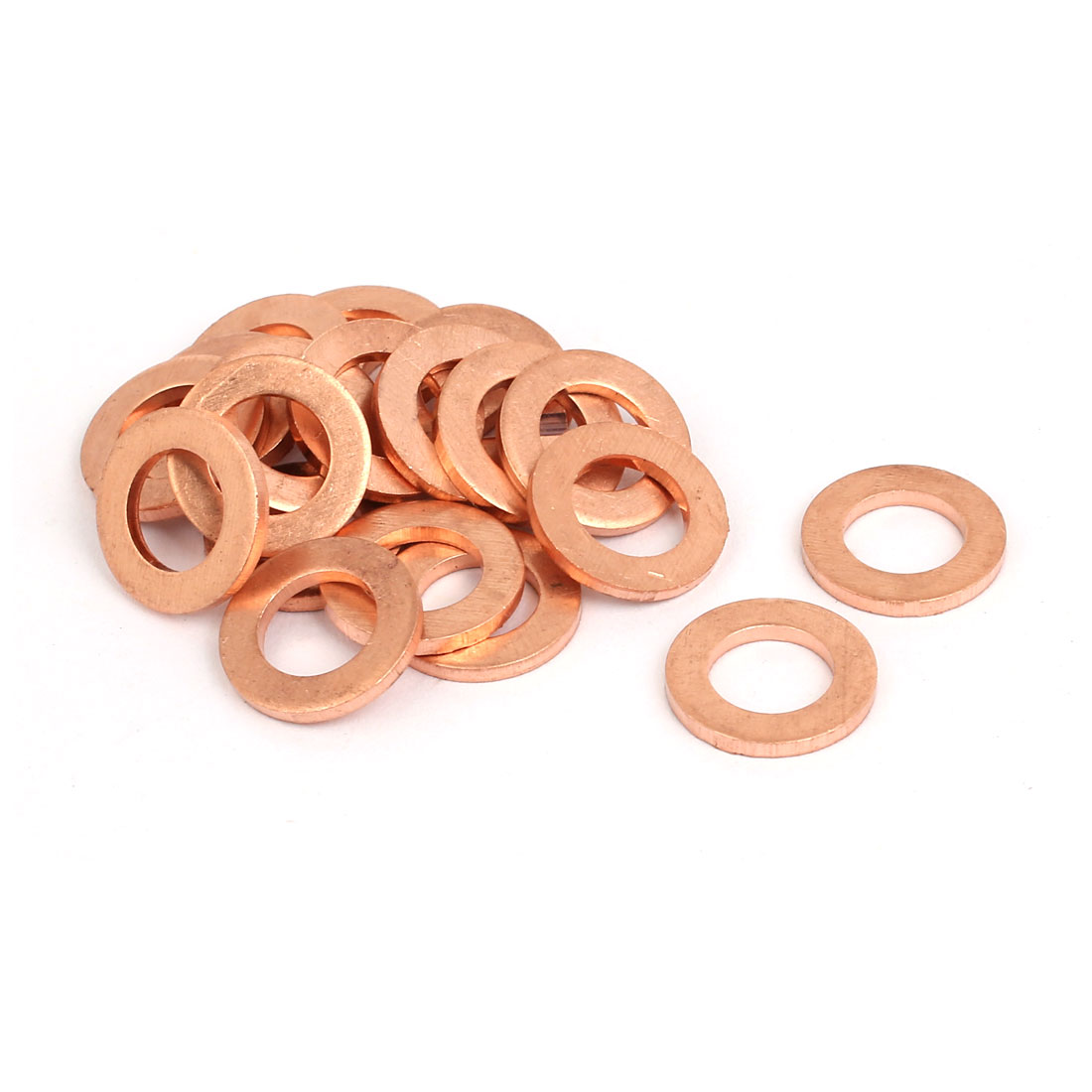 20pcs 8mmx14mmx1.5mm Copper Flat Ring Sealing Crush Washer Gasket