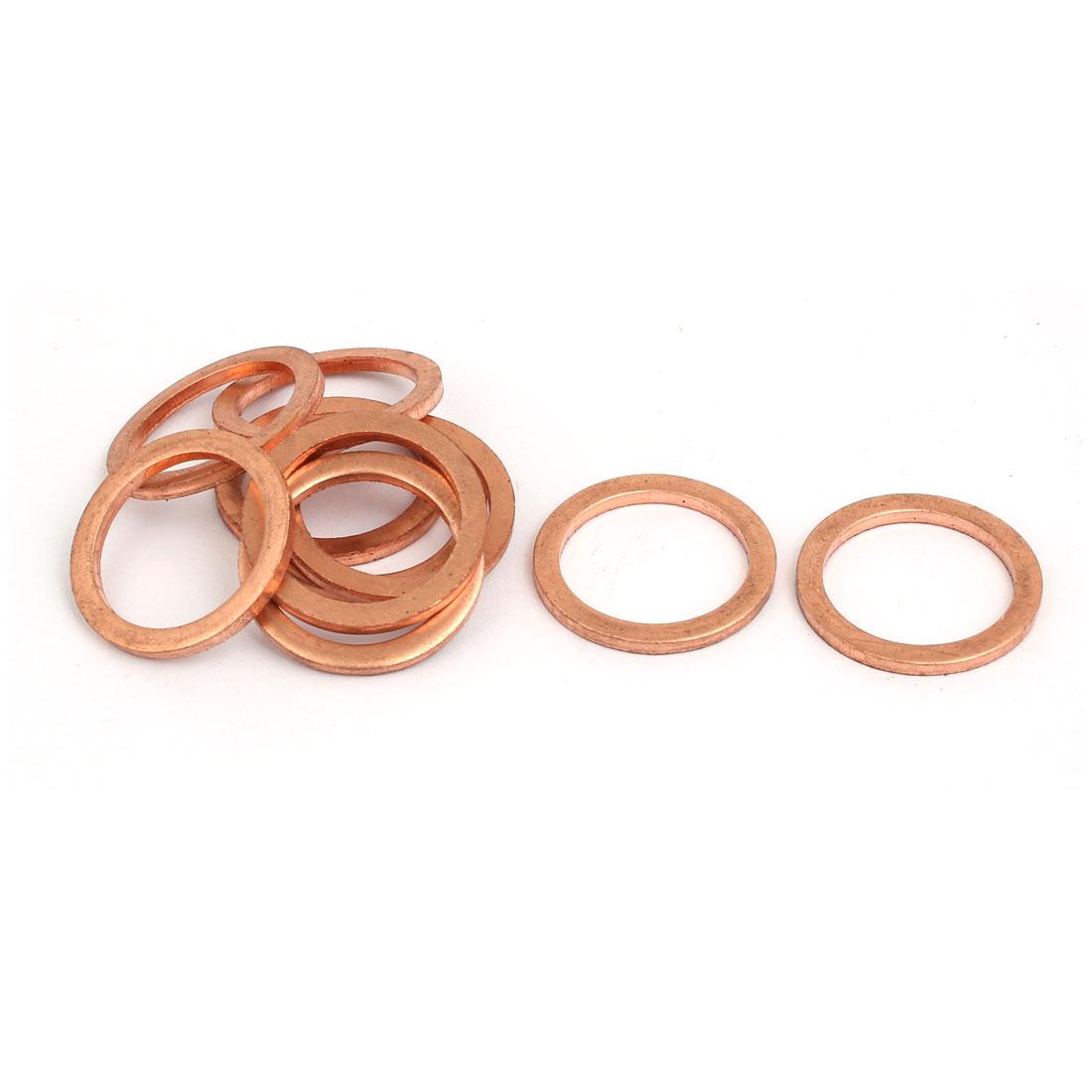 10pcs 20mmx26mmx2mm Copper Flat Ring Sealing Crush Washer Gasket