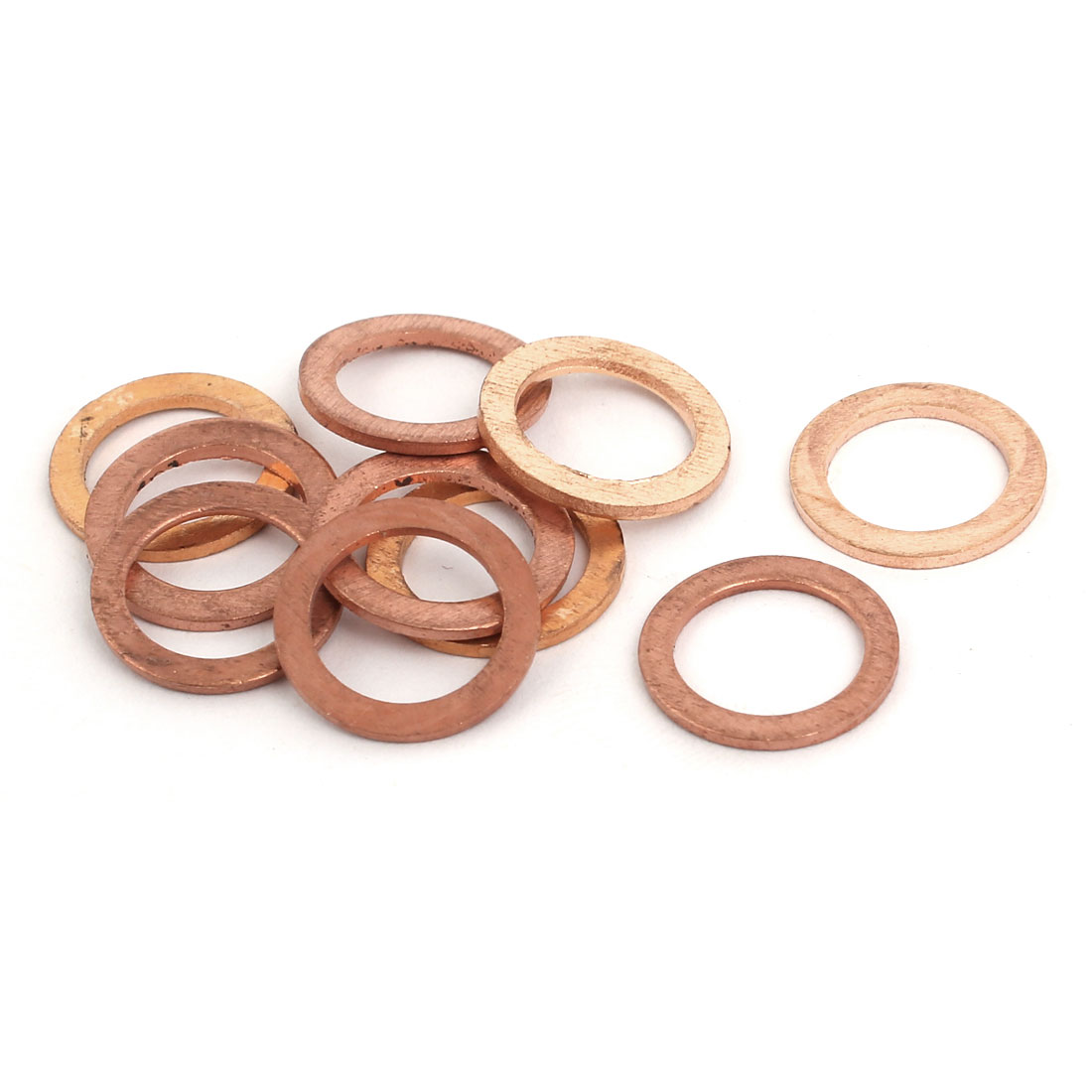 10pcs 10mmx14mmx1mm Copper Flat Ring Sealing Crush Washer Gasket