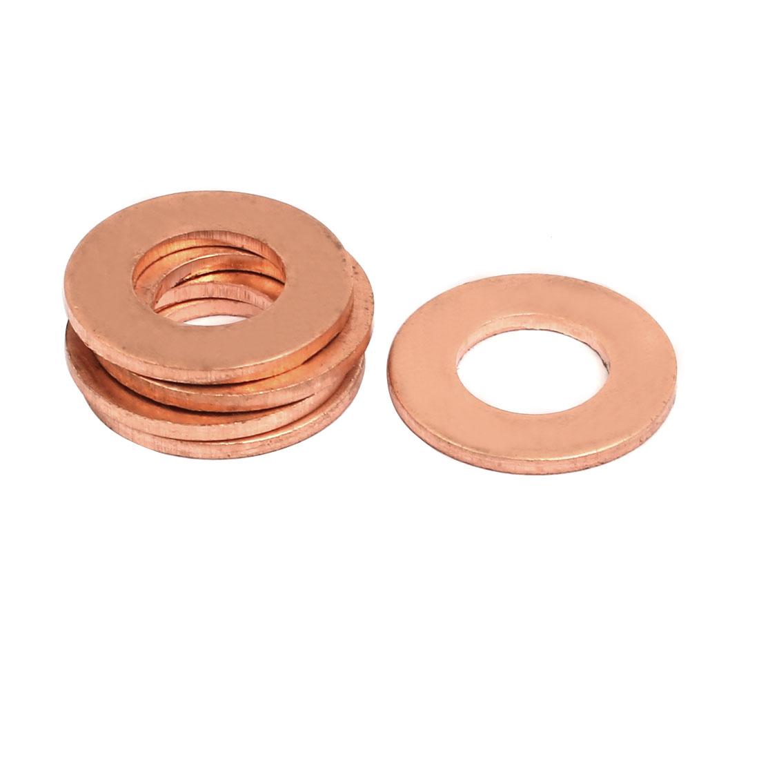 5pcs 10mmx20mmx1.5mm Copper Flat Ring Sealing Crush Washer Gasket