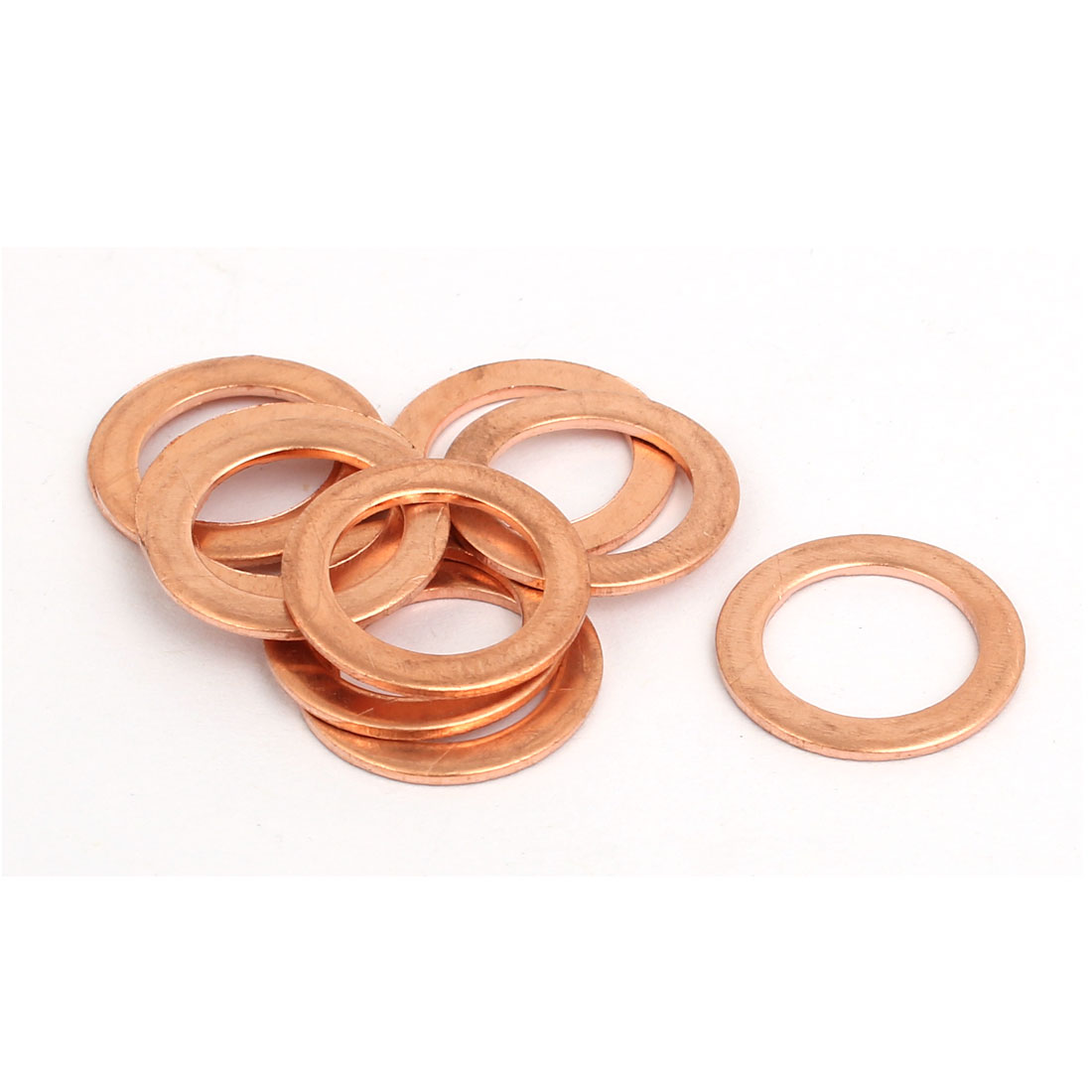 10pcs 12mmx18mmx1mm Copper Flat Ring Sealing Crush Washer Gasket