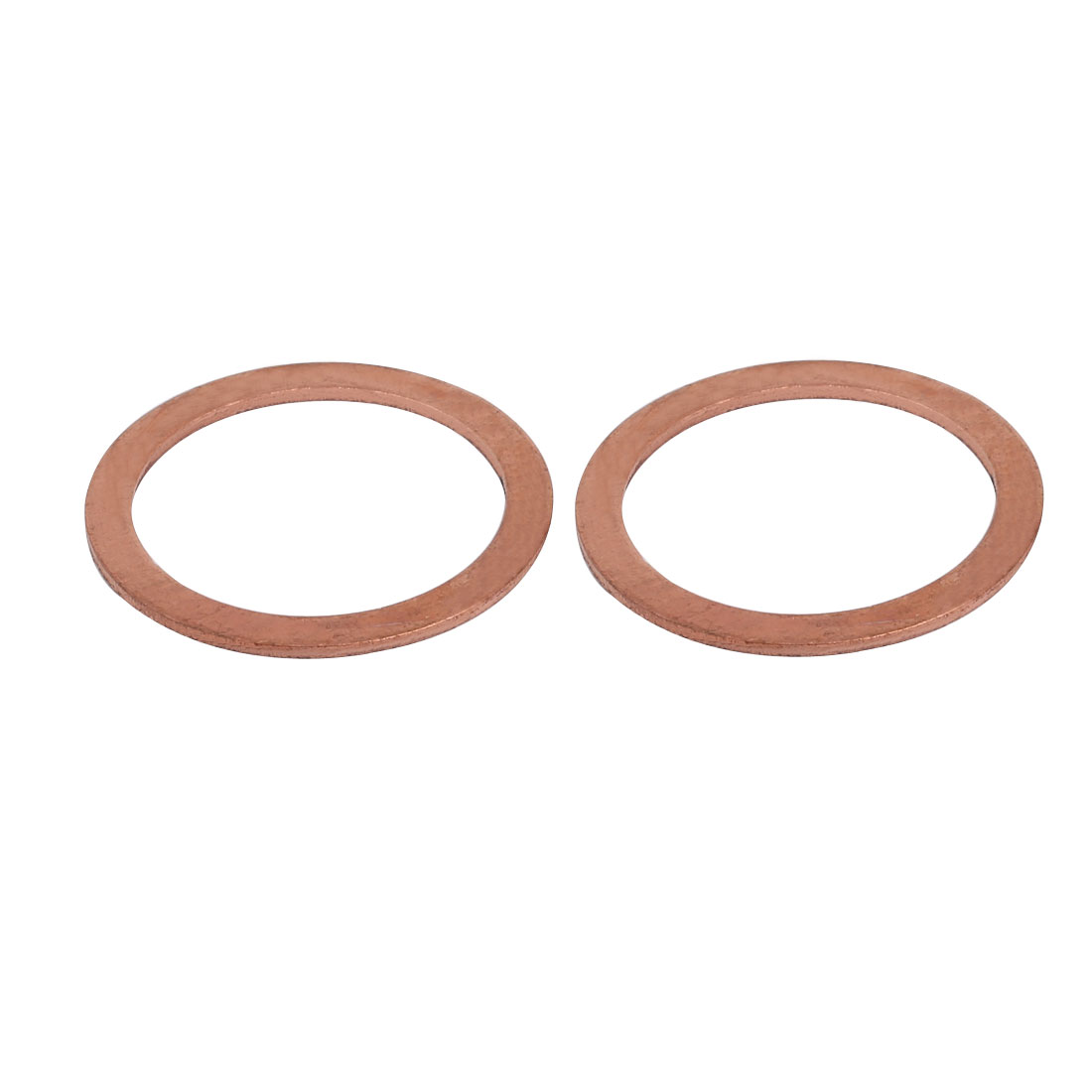 2pcs 33mmx42mmx1.5mm Copper Flat Ring Sealing Crush Washer Gasket