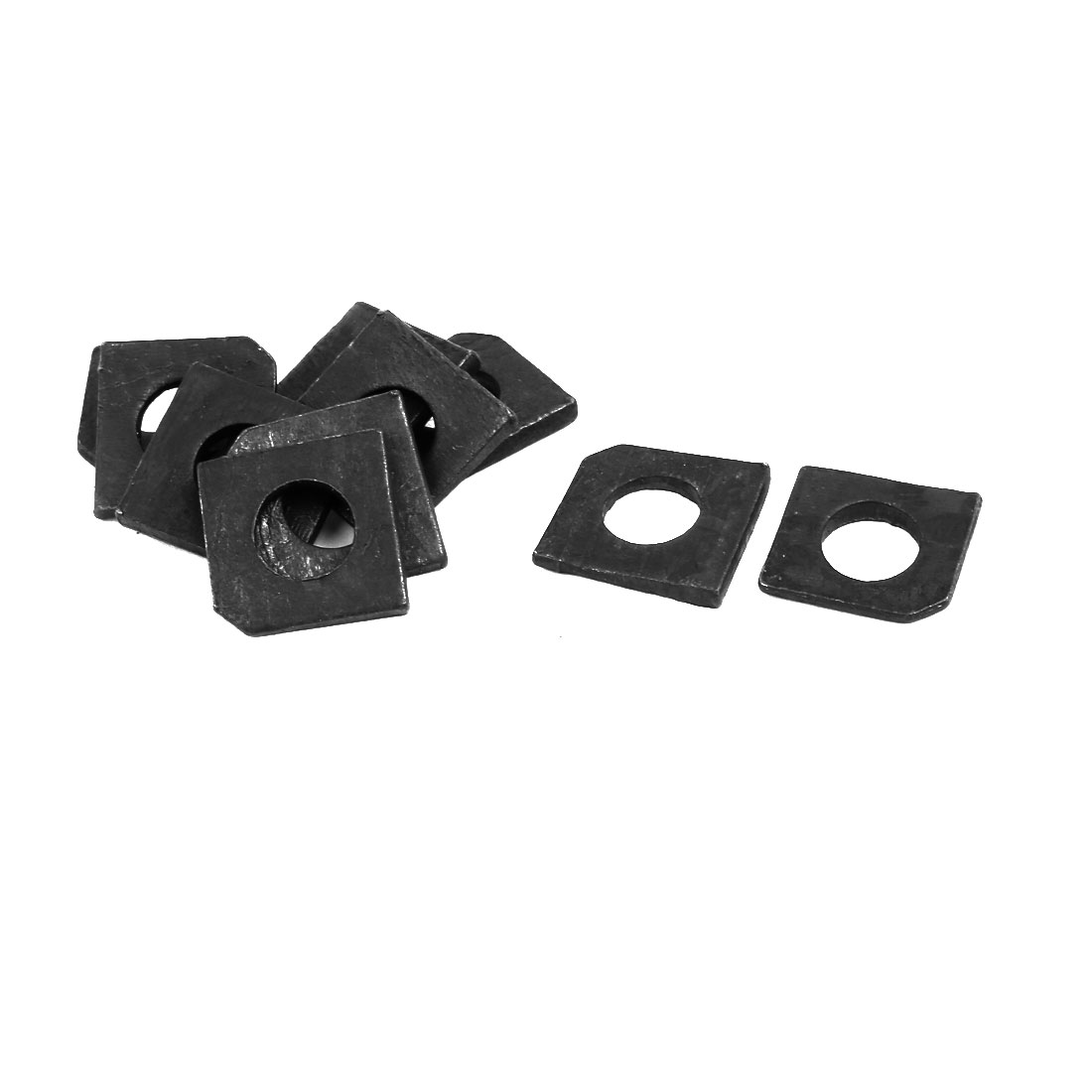 10mm Fitting Dia Carbon Steel Slot Section Square Bevel Washer 10pcs