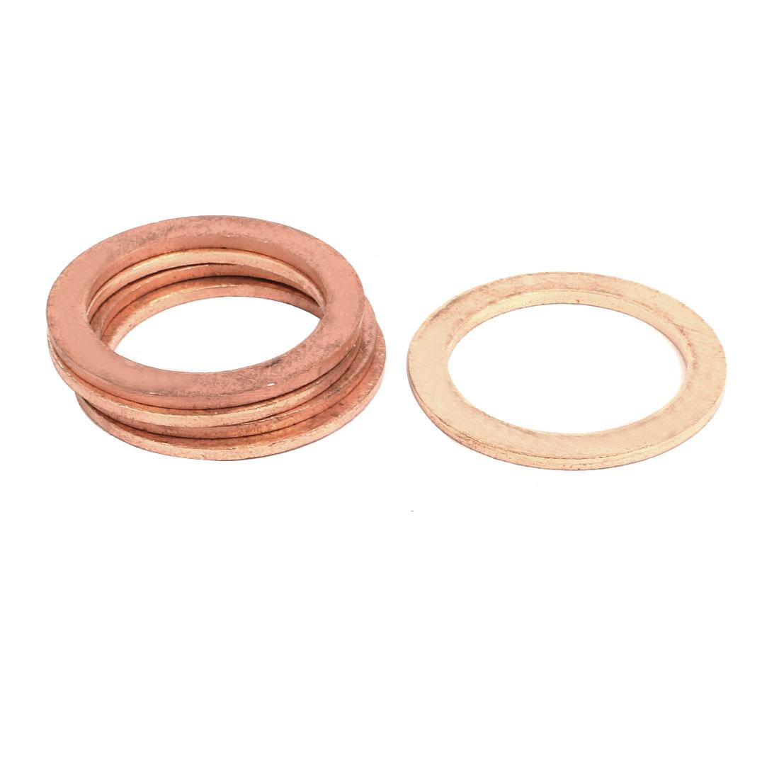 4pcs 30mmx40mmx2mm Copper Flat Ring Sealing Crush Washer Gasket