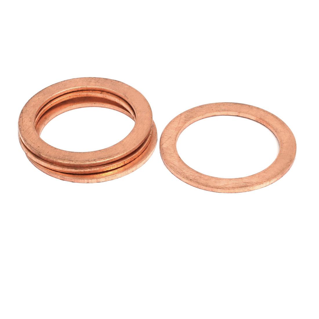 4pcs 30mmx40mmx1.5mm Copper Flat Ring Sealing Crush Washer Gasket