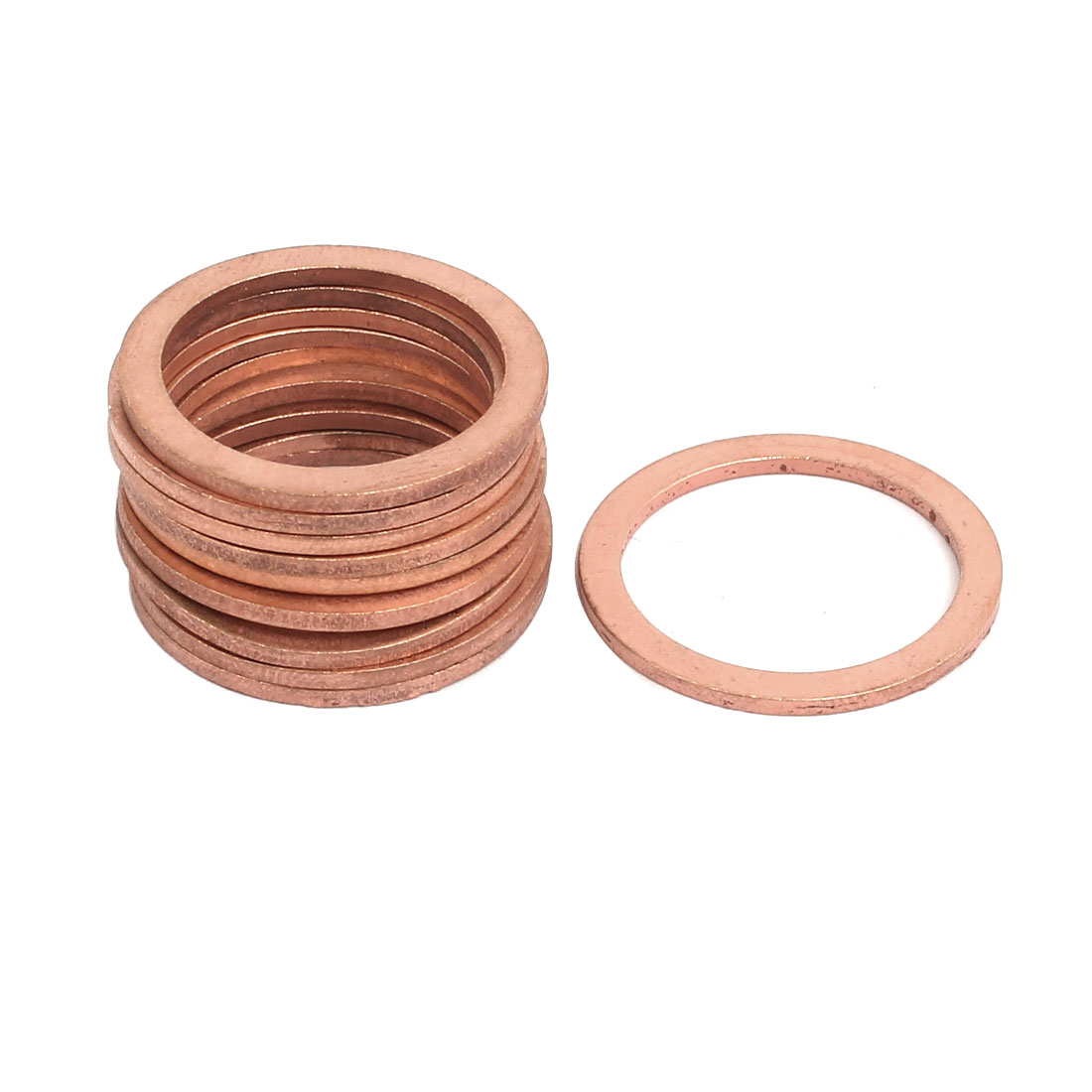 10pcs 22mmx28mmx1.5mm Copper Flat Ring Sealing Crush Washer Gasket