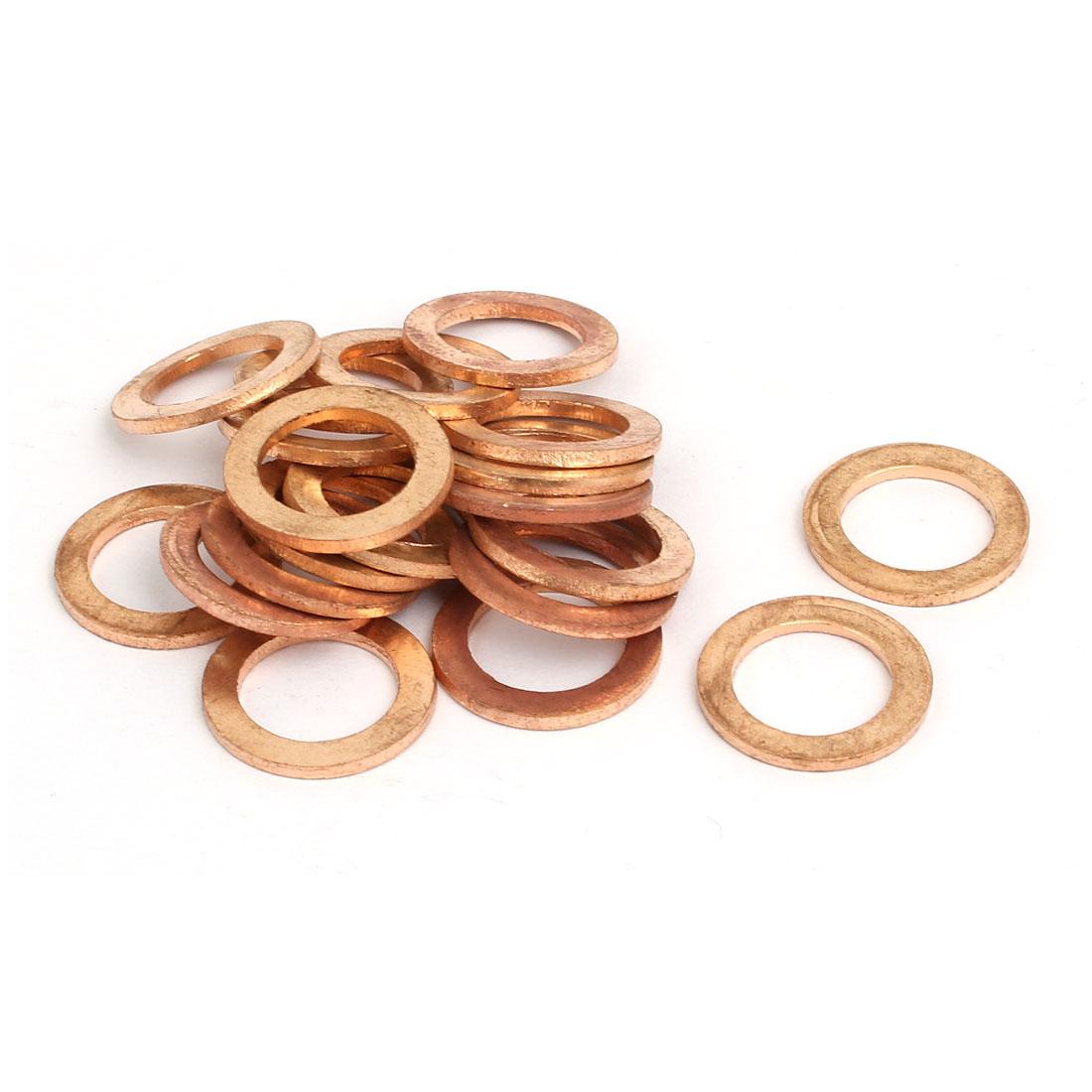 20pcs 12mmx20mmx1.5mm Copper Flat Ring Sealing Crush Washer Gasket