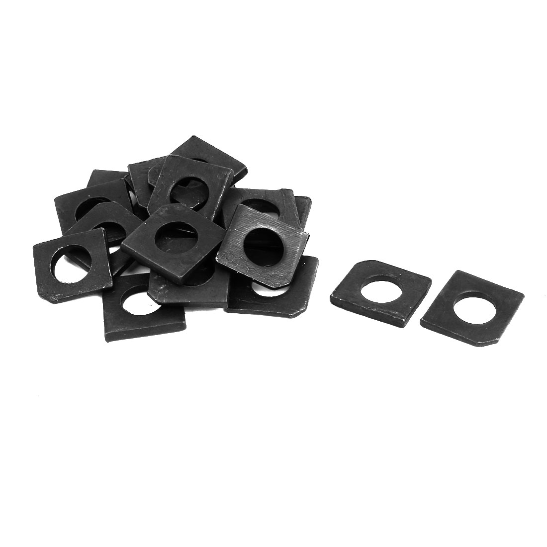 10mm Fitting Dia Carbon Steel Slot Section Square Bevel Washer 20pcs
