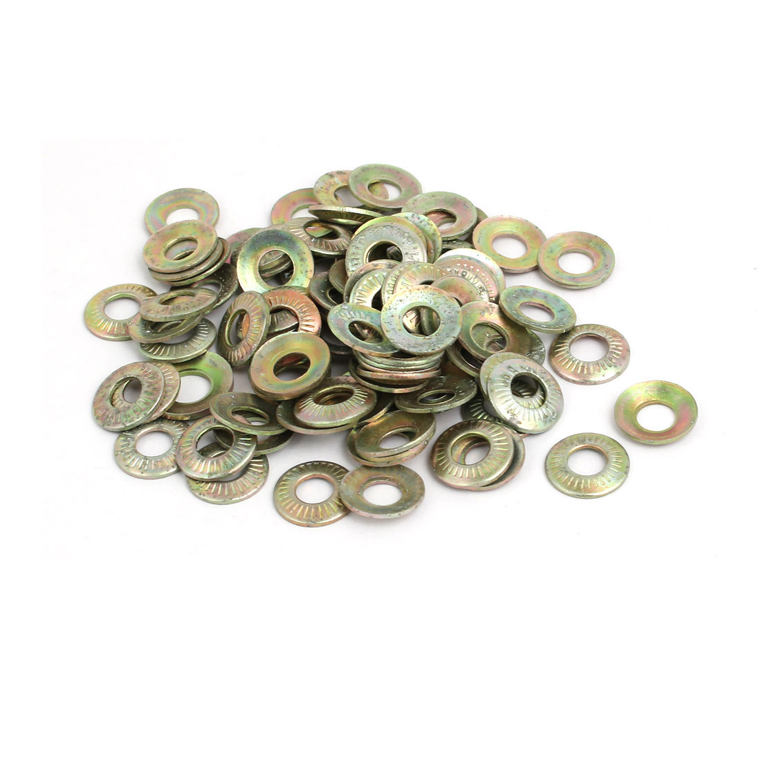 M5 Inner Dia Carbon Steel Serrated Conical Washer Bronze Tone 150pcs