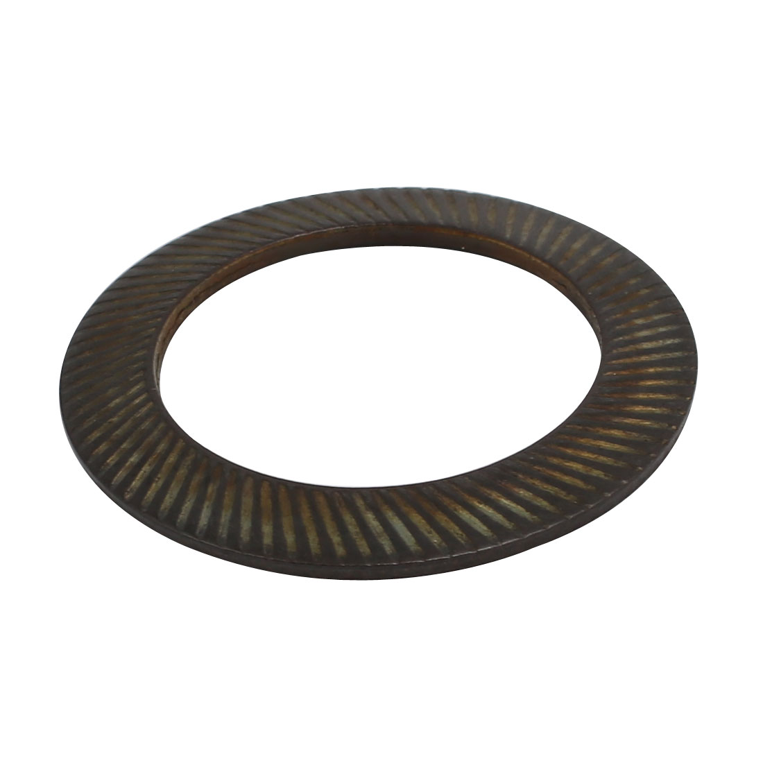 30mm Inner Diameter Carbon Steel Dual Serrated Conical Washer Black