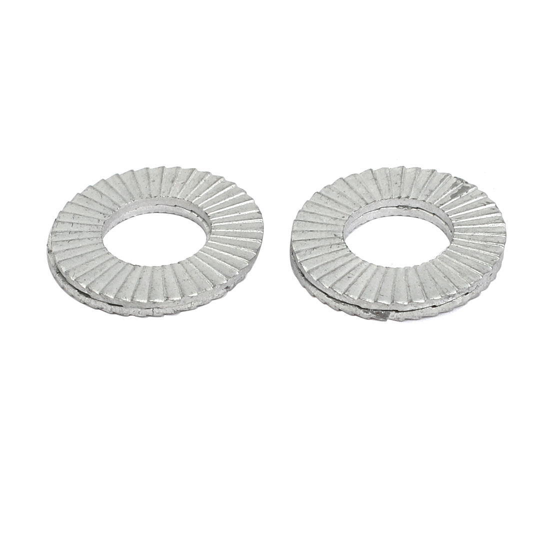 10mm Inner Dia Carbon Steel Wedge Locking Washer Silver Tone 4 Pcs