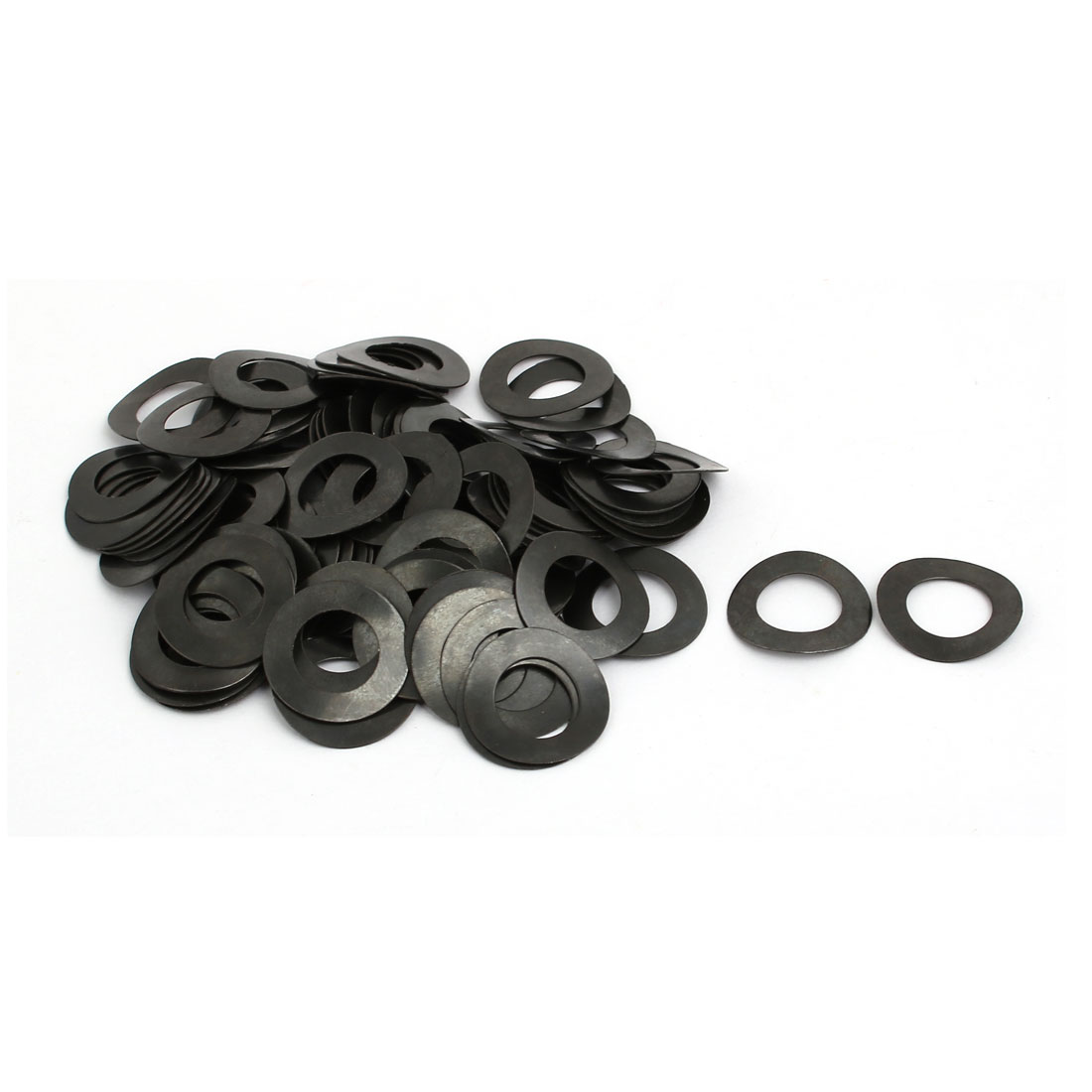 10mm Fitting Dia 0.6mm Thickness Carbon Steel Curved Spring Washer 100pcs
