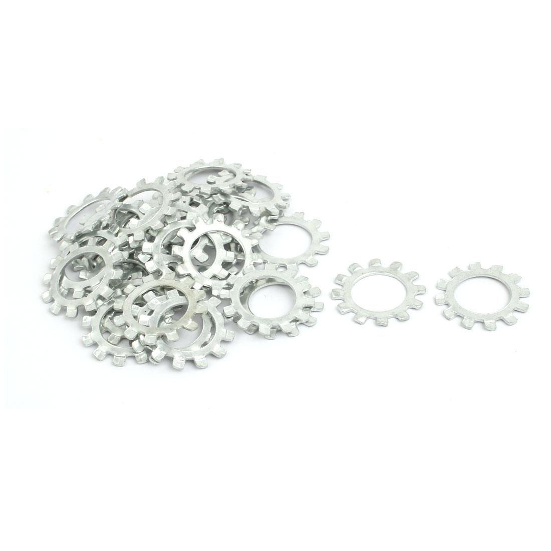 14mm Inner Diameter Carbon Steel Zinc Plated External Tooth Lock Washer 30pcs