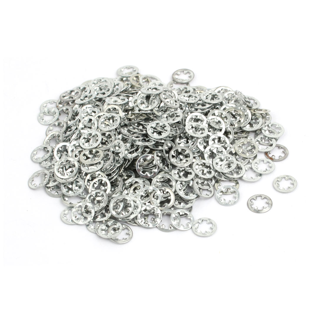 3mm Inner Dia Carbon Steel Zinc Plated Internal Tooth Lock Washer 500pcs