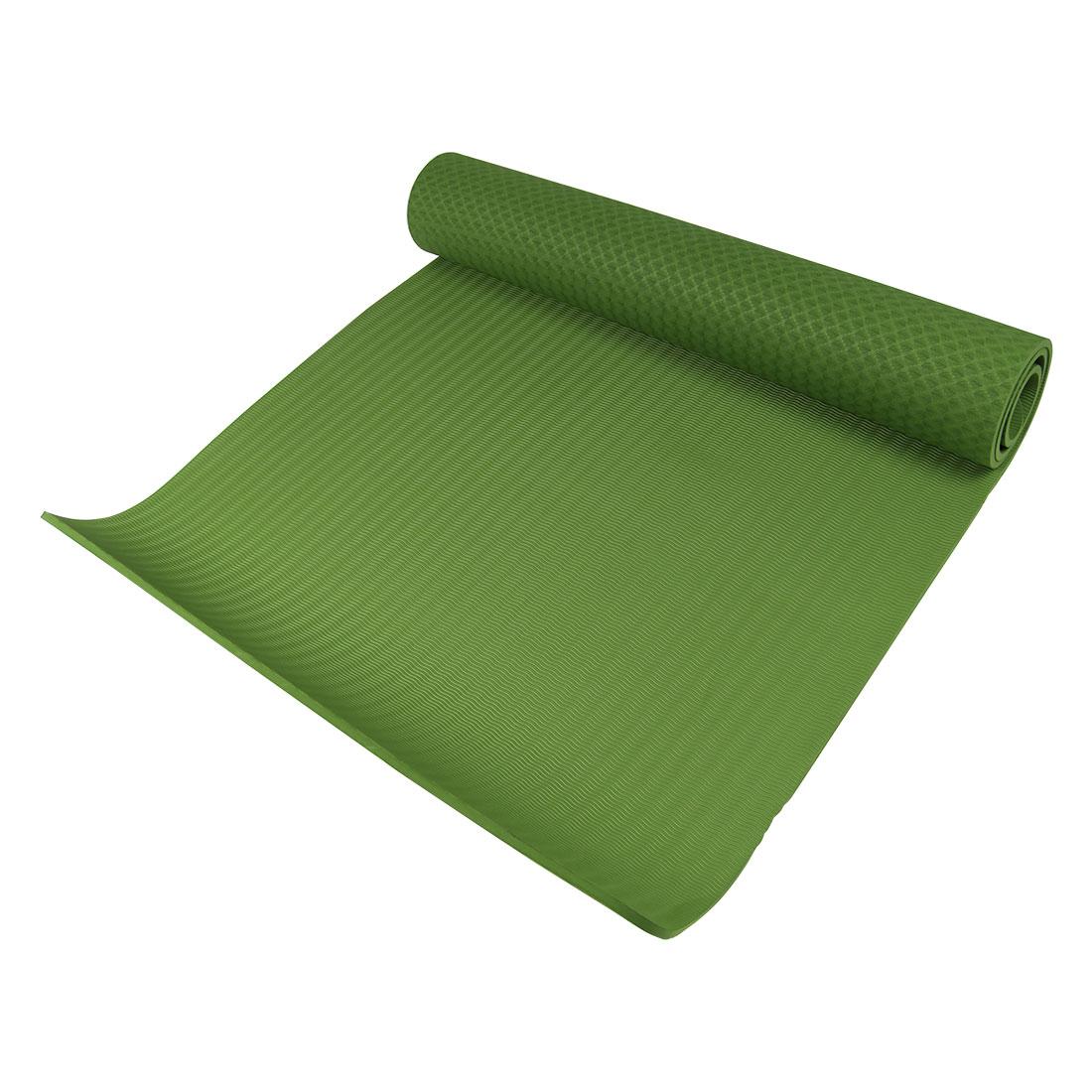 Indoor Gym Exercise Folding Anti Slip Yoga Pilates Practice Mat Cushion Green