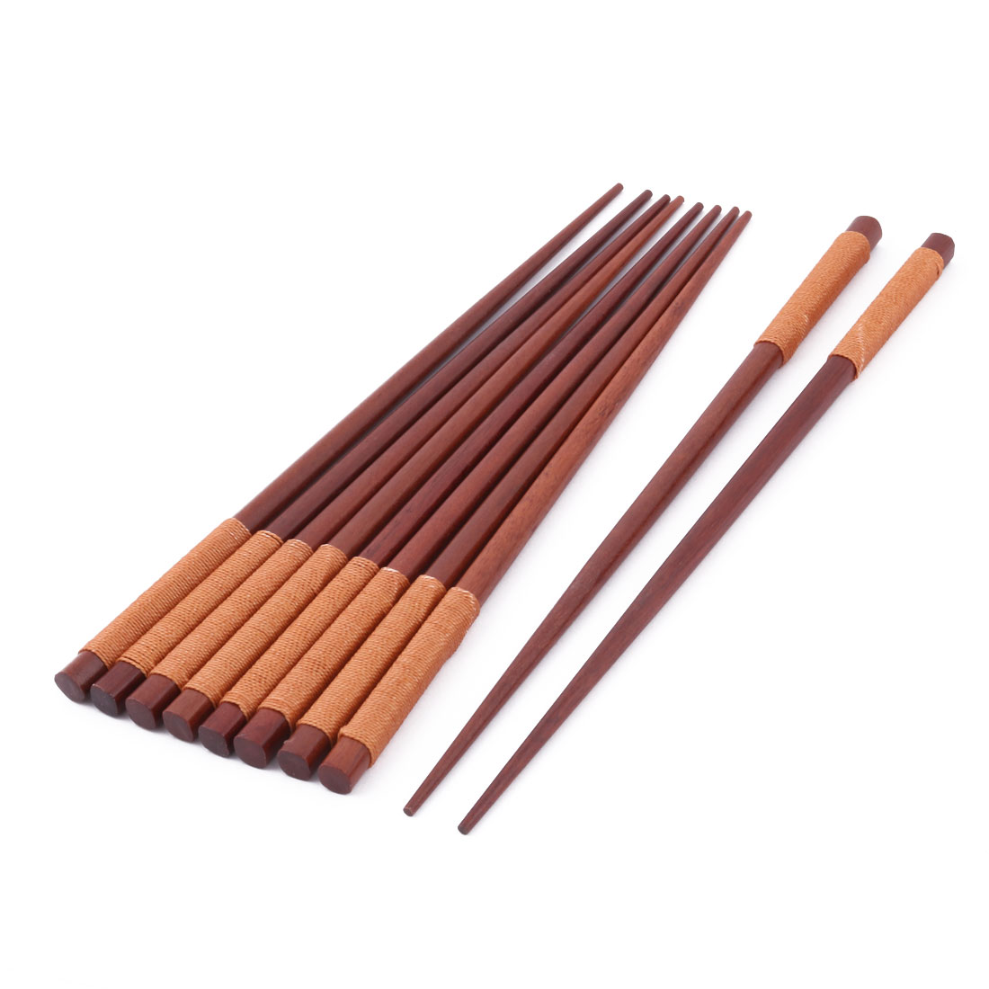 Restaurant Wood Tableware Food Rice Meat Fish Duck Noodle Chopsticks 5 Pairs