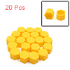 20 Pcs 19mm Yellow Silicone Car Vehicle Wheel Tyre Hub Screw Bolt Nut Cap Covers